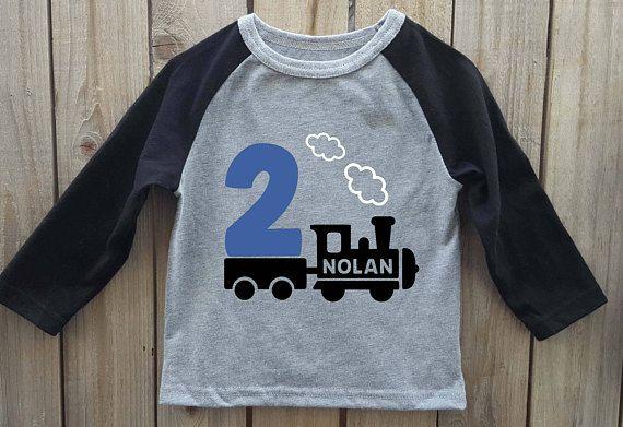 Train Birthday Shirt Party Boy Theme Boys 2nd
