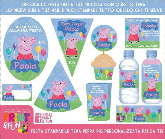 Imprimibles Para Fiestas Infantiles Lagartixa Pepa La Cerda