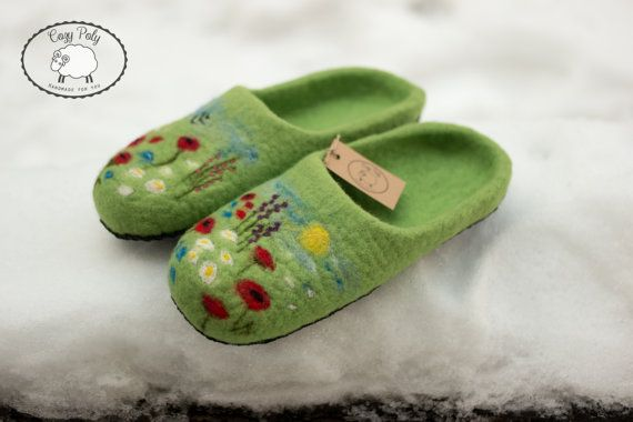 3132e383a9c59 60th birthday Gift for grandparent gifts Felted Wool Slippers Woolen ...
