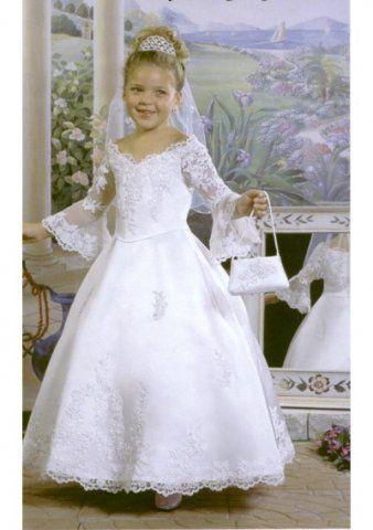 Organza V Neck Princess Ball Gown Style Hot Sell Flower Girl Dress FL