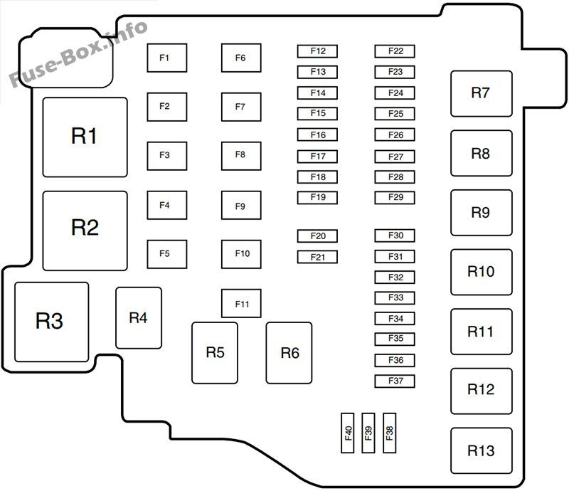 2012 ford fiesta fuse layout