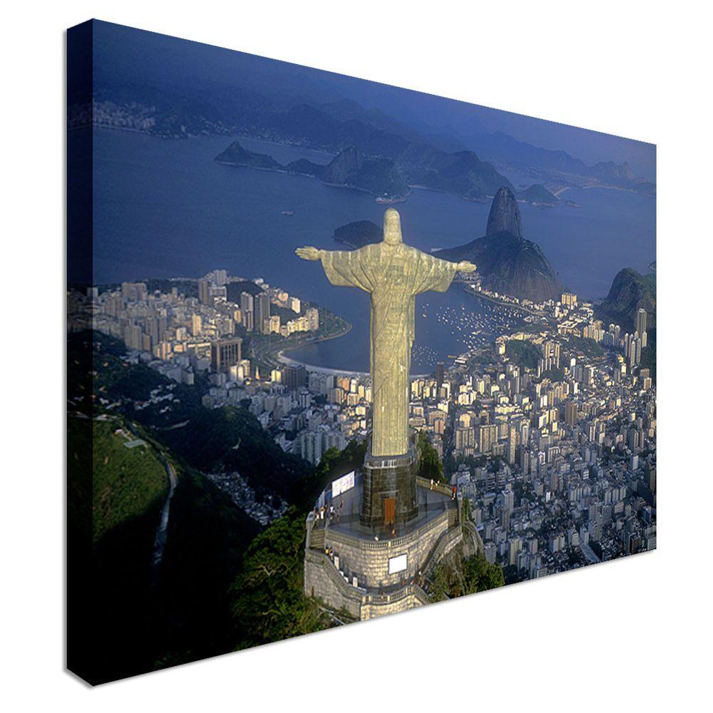 Rio de janeiro aerial view of christ canvas art cheap wall print