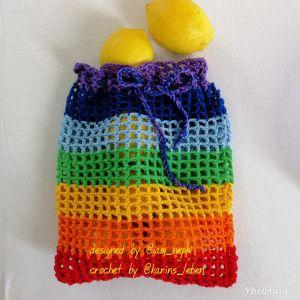 Modèle de crochet de sac de fruits / légumes – Néphi-Handmade   – Häkeln