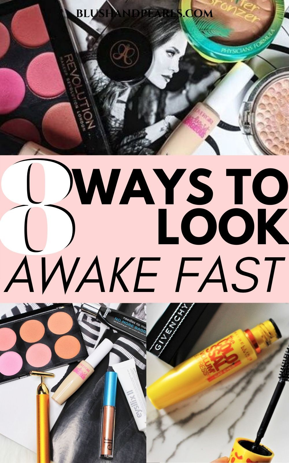 How I Fake Awake In 9 Steps - Blush & Pearls in 9  Puffy eyes