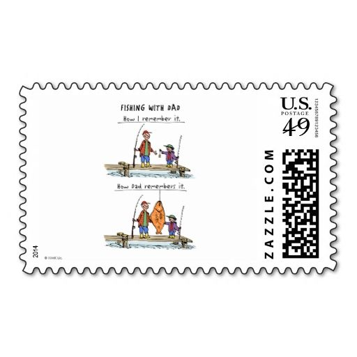Fishing With Dad Postage Stamp Wanna make each letter a special