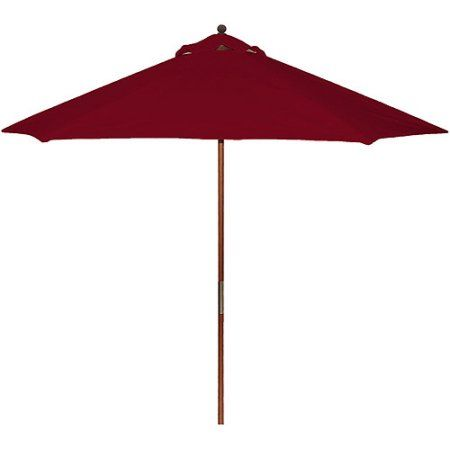 Better Homes and Gardens 9' Wooden Umbrella, Red Sedona