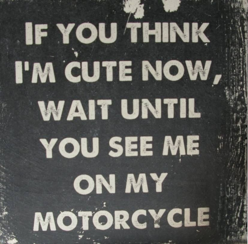 Motorcycle Quotes Amazing Wait Until You See Me On My Motorcycle  Pinterest  Journal