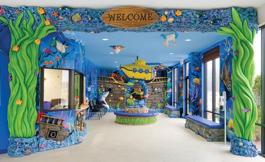 Underwater Adventures in Themed Doctors Office | Imagination Design Studios
