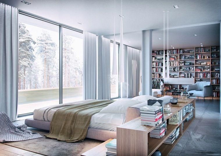 ampia-camera-da-letto-mobili-legno-libreria-parete-zona-relax-grande ...