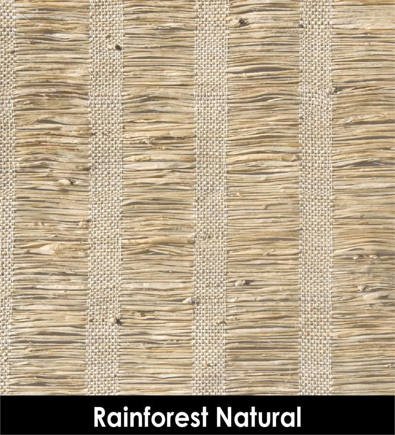 Rainforest In Natural Cream Color Woven Woods Grasses