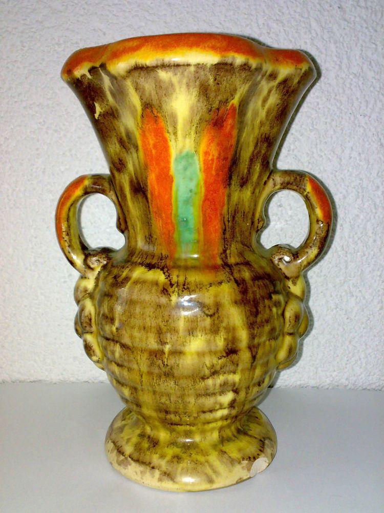 Details Zu Vase Henkelvase 30s 40s Art Deco Uranglasur Uranium Glaze