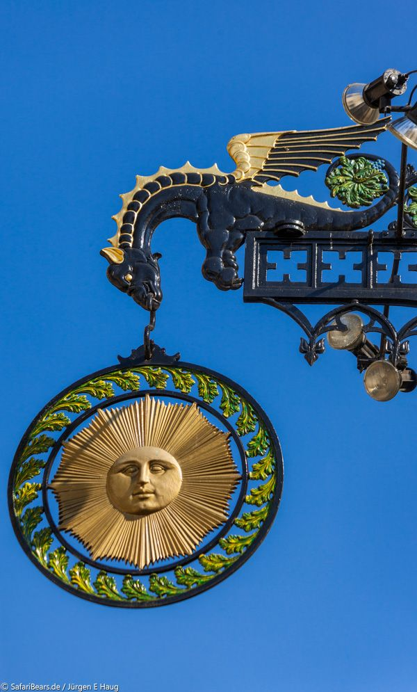 """Gasthaus Sonne by SafariBear Photography / Architecture / Other ©2011-2014 SafariBear Tavern Sign of the Tavern """"Sun"""" in Schwäbisch Hall, Germany."""
