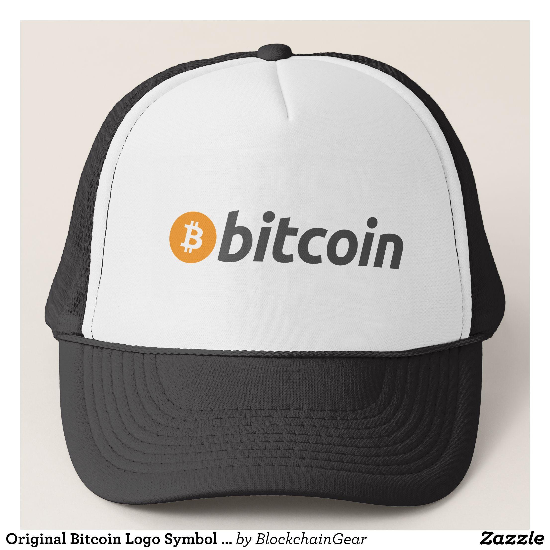 Original Bitcoin Logo Symbol Cryptocurrency Hat Bitcoin Logo