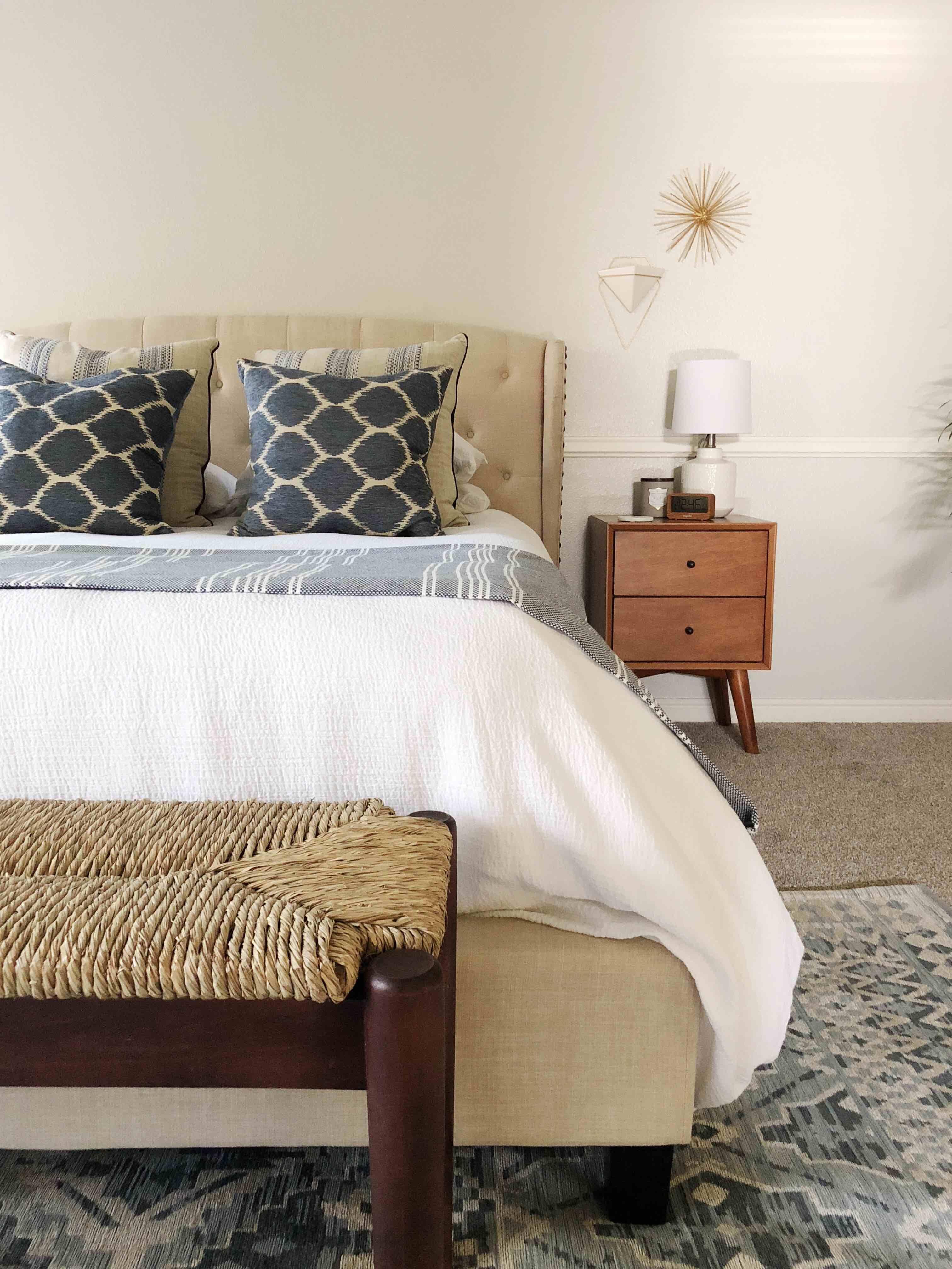 Best A Serene Mid Century Modern Coastal Style Master Bedroom 640 x 480