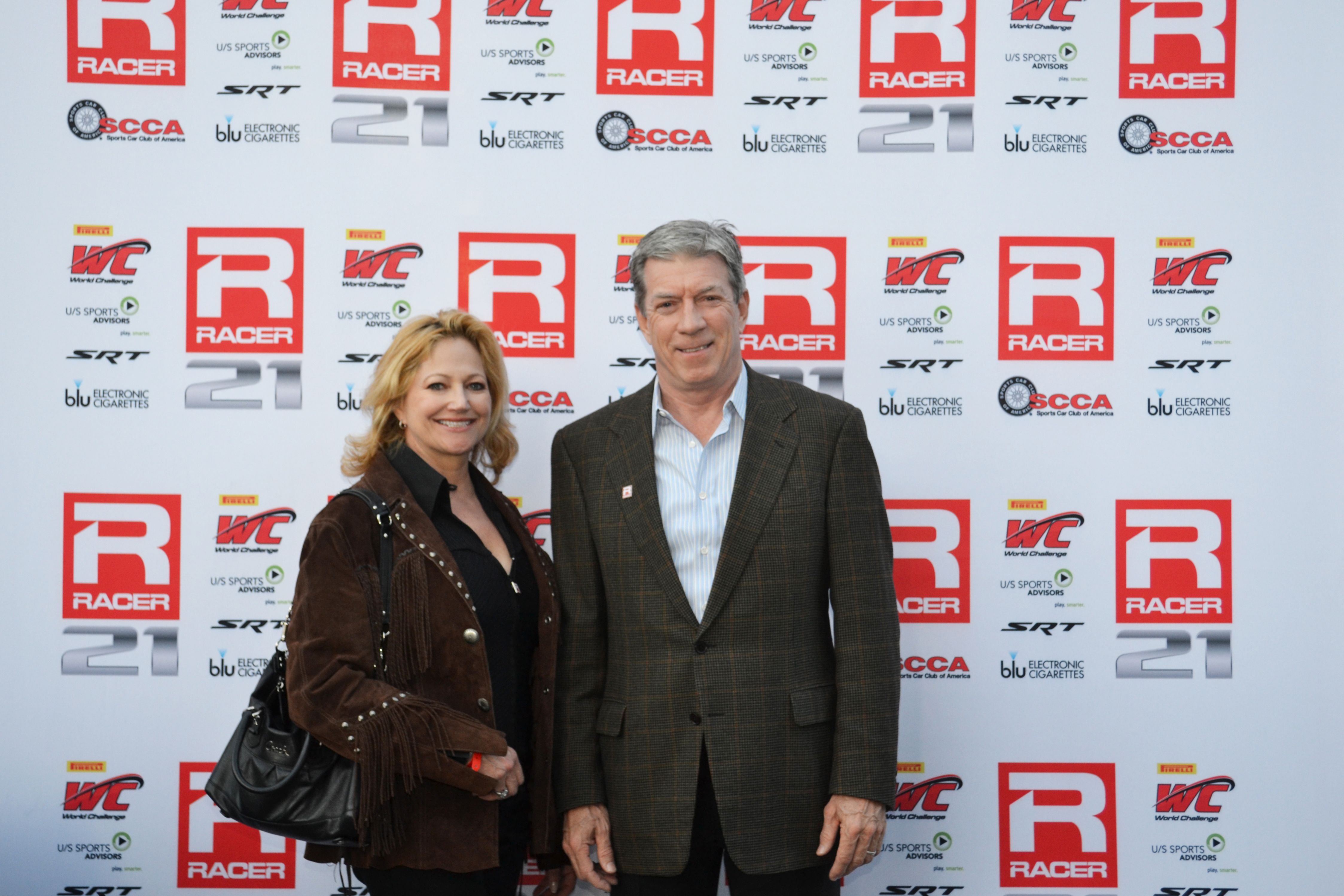Skip Barber Racing School Ceo Michael Culver With Sbrs West Coast Business Development Manager Jackie Ginsburg