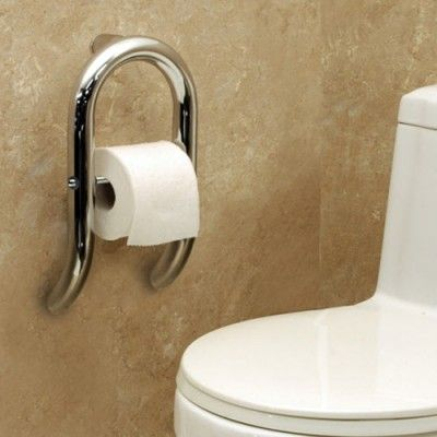 Invisia Collection Toilet Paper Dispenser with Integrated Support ...