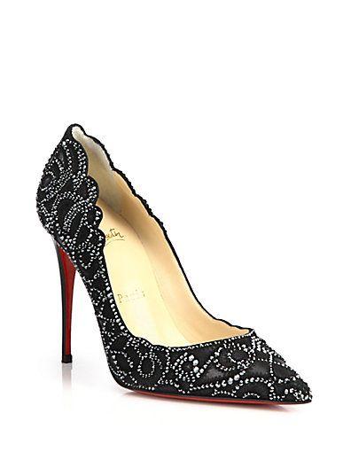 68eb0b753e4f Love these shoes by CHRISTIAN LOUBOUTIN Top Vague 100 Swarovski Crystal  Mesh Pumps -  2995