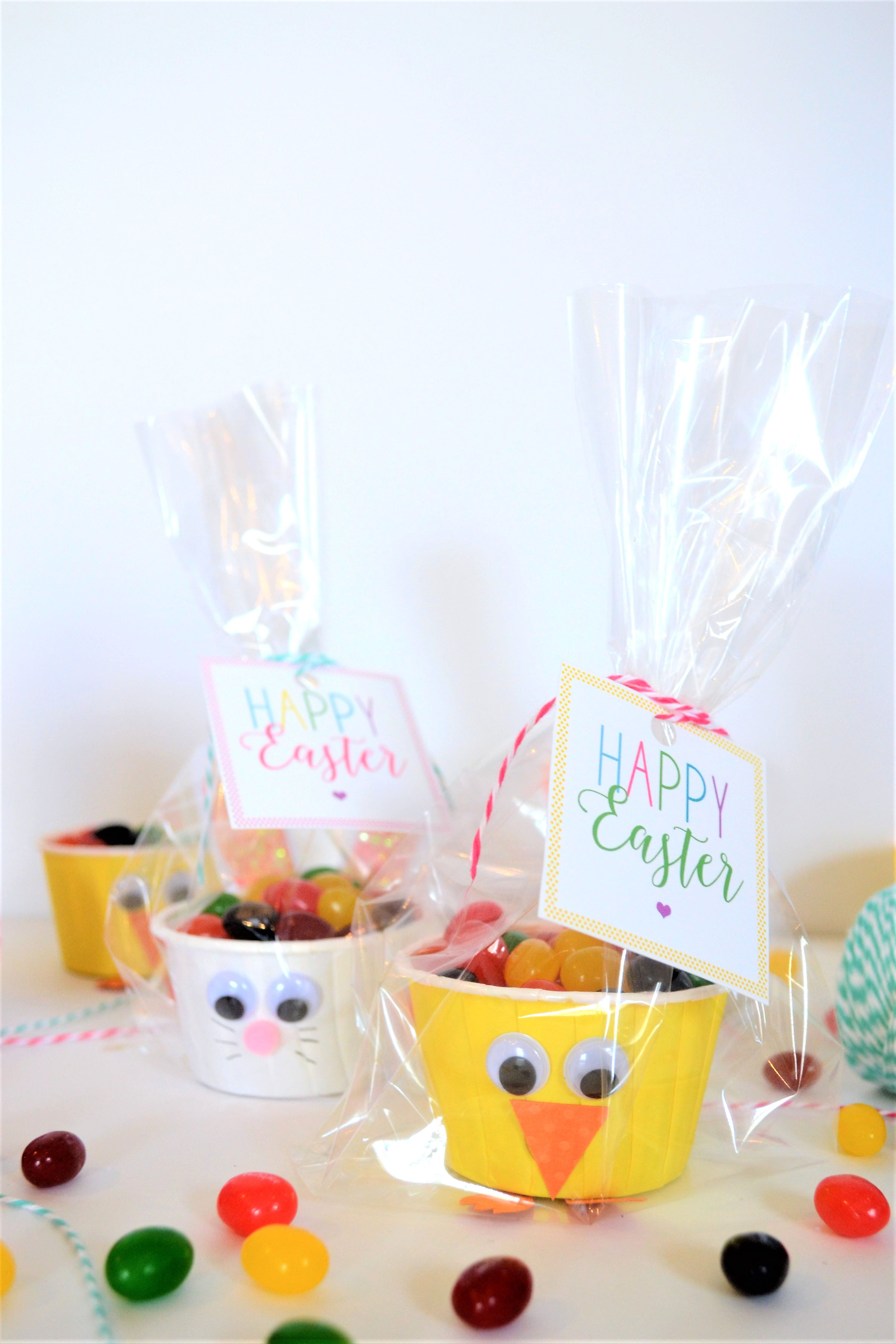 Free Printable Easter Tags Diy Bunny And Chick Favors