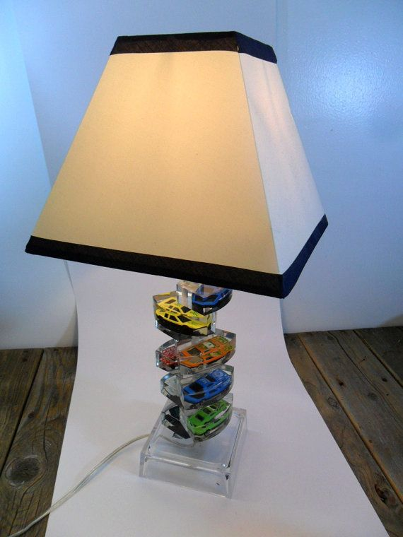 Mid Century Acrylic Car Table Lamp Etsy Lamp Table Lamp Acrylic Table