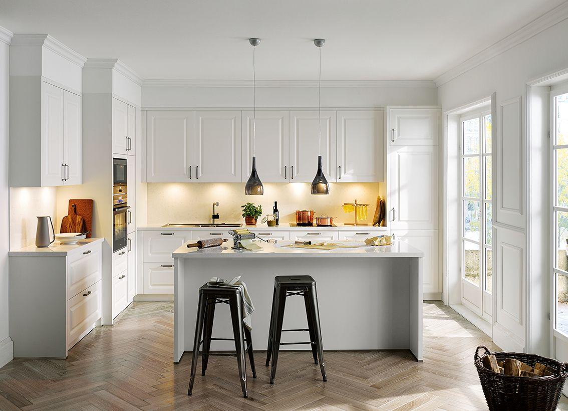 Kitchenoftheweek is this simple riva white satin kitchen from