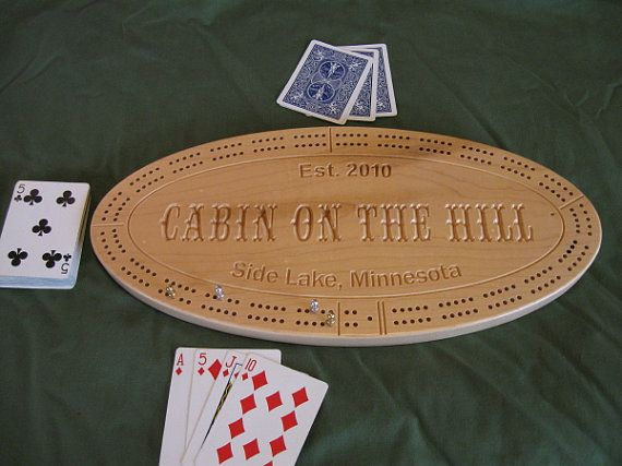 Personalized cribbage board in hard maple.  I ordered one as a gift, and it was fabulous.
