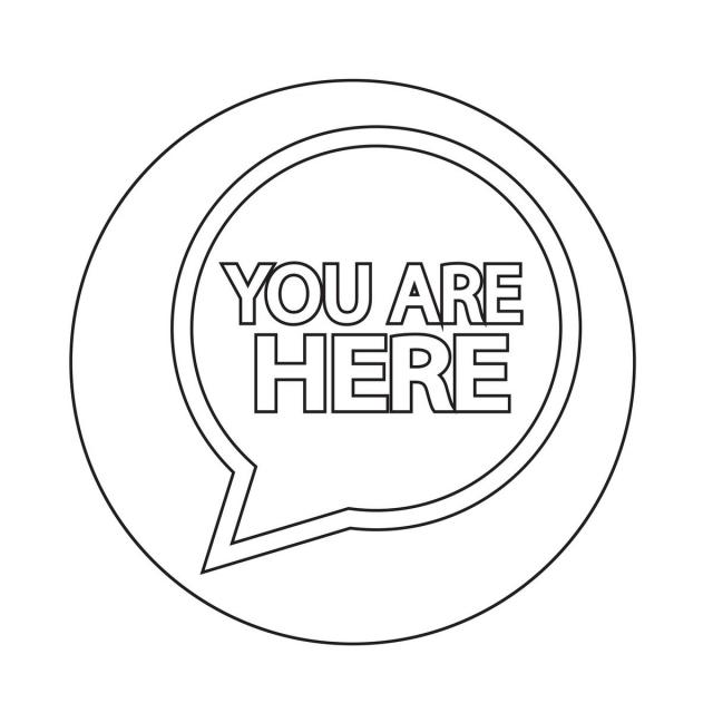 You Are Here Icon Vector And Png Free Vector Illustration Font Illustration Icon