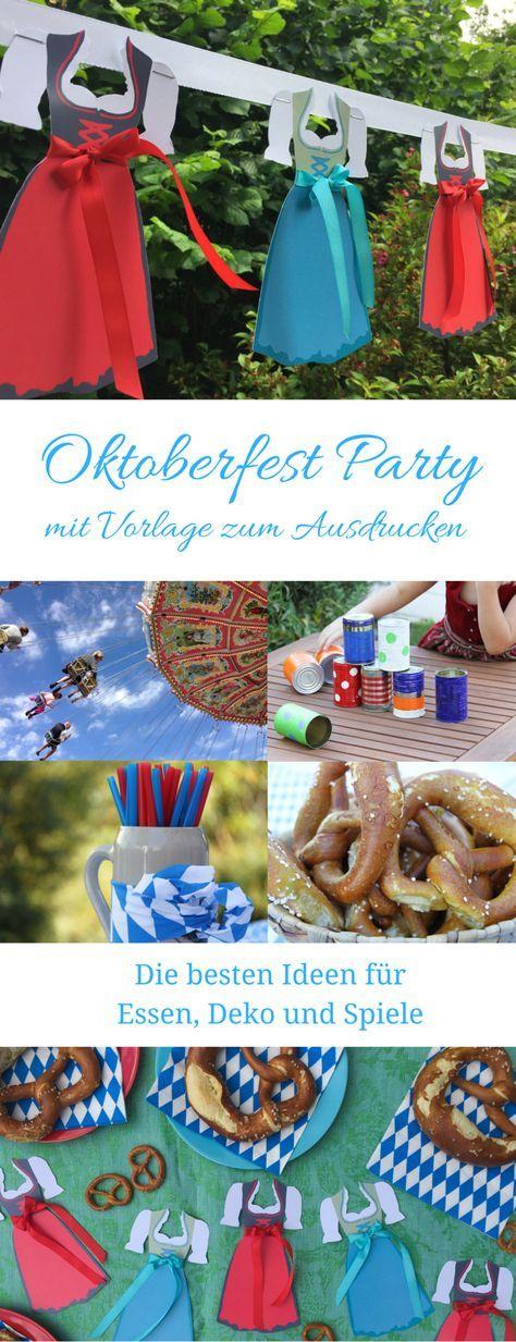 Oktoberfest Dirndl und Partyideen | Pinterest | Oktoberfest essen ...