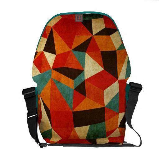 #Vintage abstract shaped #messenger #bag