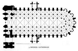 Bourges Cathedral Floor Plan Bourges Cathedral Architecture Drawings