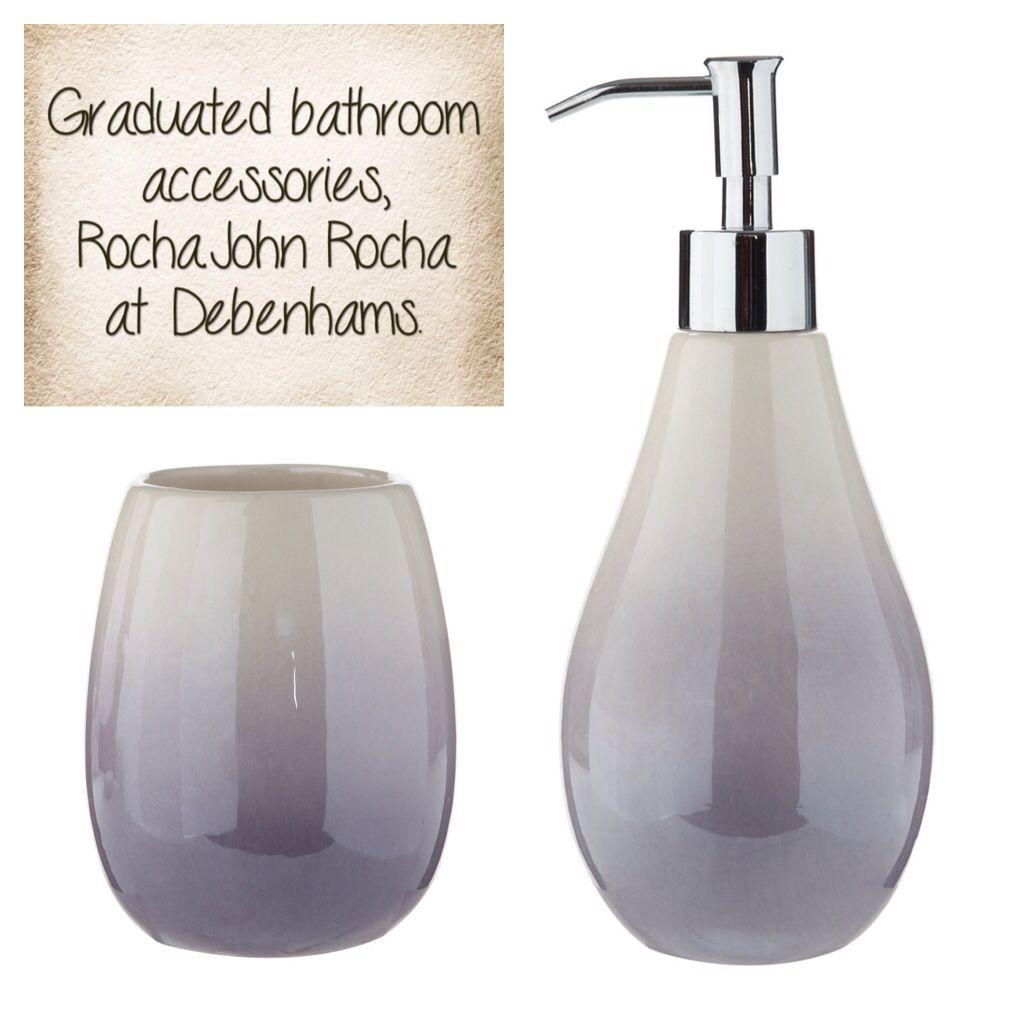 Graduated bathroom accessories, Rocha.John Rocha at Debenhams ...