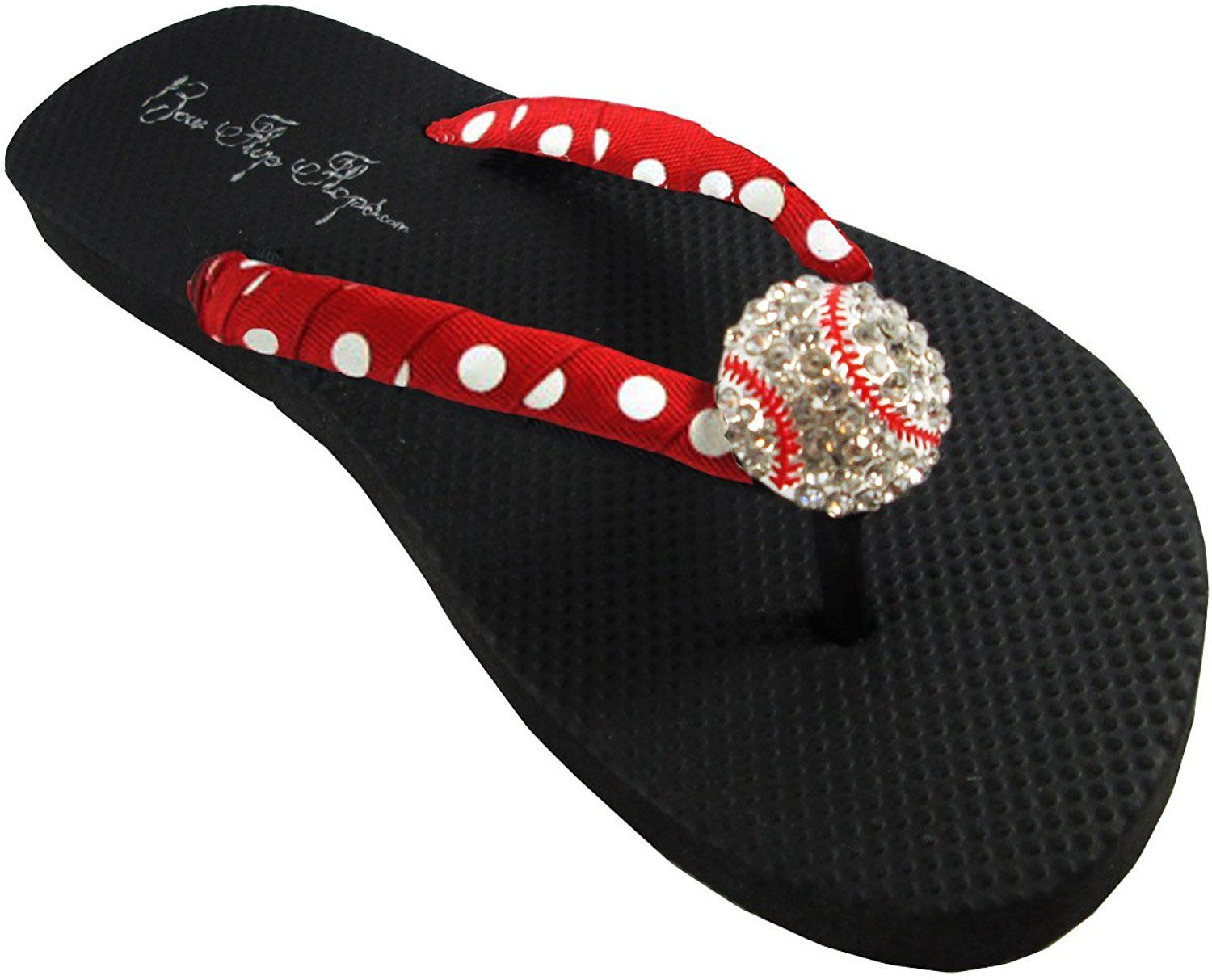 ed321d55c4d5 Baseball Flip Flops with Rhinestone Bling Sandals -- Want to know more