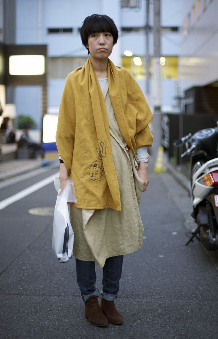 Yellow Rabbit Scarf, Tokyo | Street Fashion | Street Peeper | Global Street Fashion and Street Style