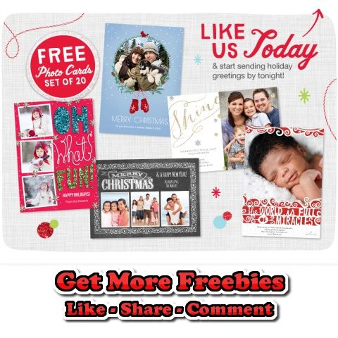 20 free 5 7 holiday cards at walgreens http freesamplesnatcher