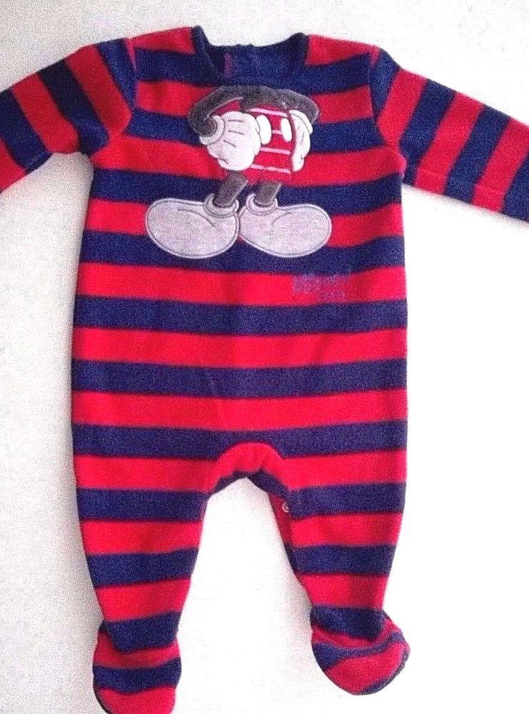 0c6aec44adae Baby Boys Disney Mickey Mouse Novelty Fleece Sleepsuit All in One 3 ...