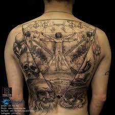 Resultado De Imagen Para Vitruvio Tattoo Watercolor Tatuaje Hombre De Vitruvio Tatuajes Discretos Vitruvio