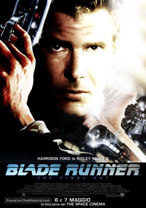 Blade Runner Italian re-release poster, 1982