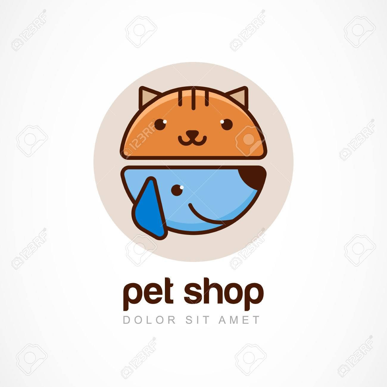 Abstract Design Concept For Pet Shop Or Veterinary Pet Shop Logo Pet Shop Pet Care Logo