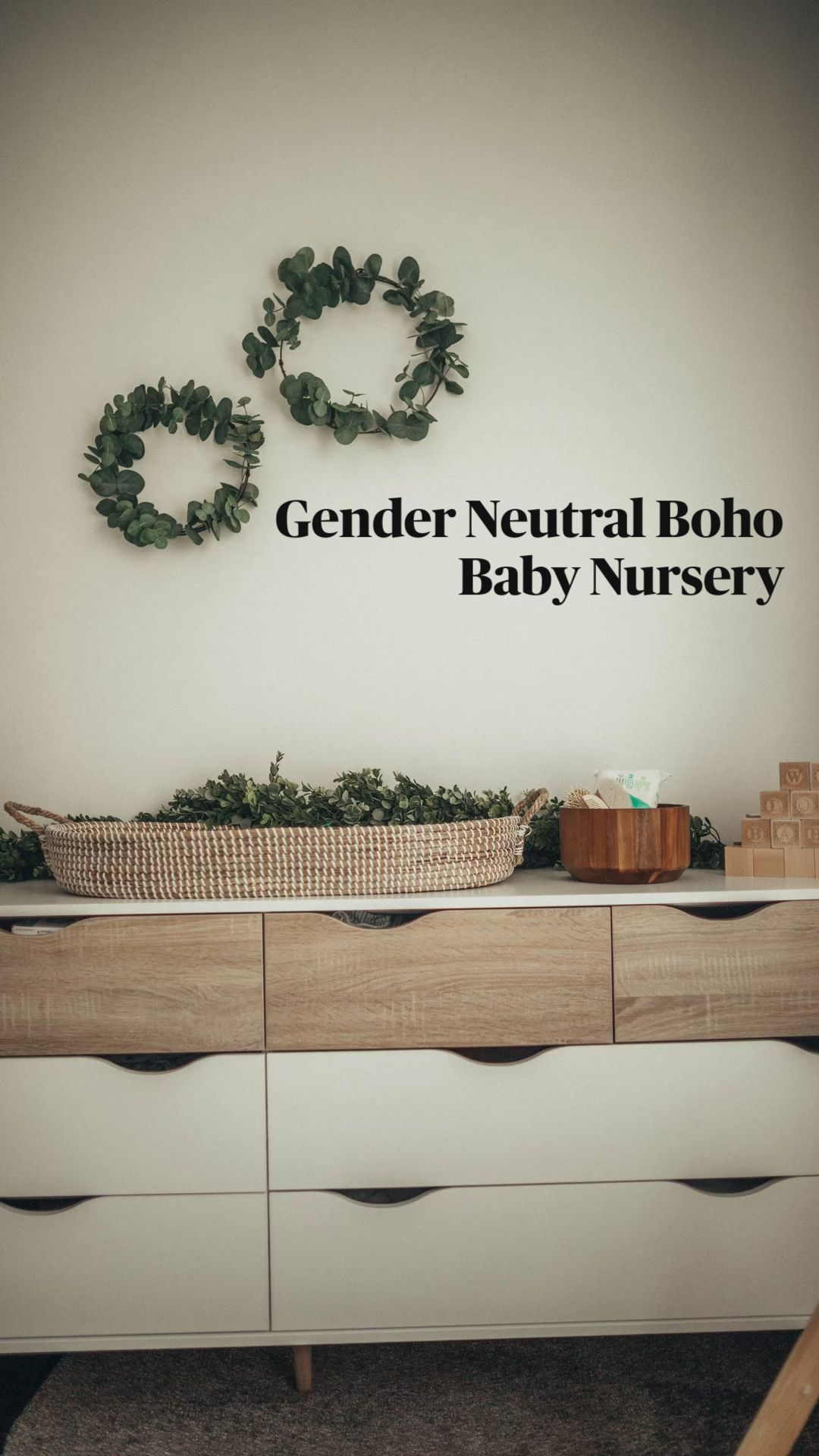 Gender Neutral Boho Baby Nursery - Nursery Organization