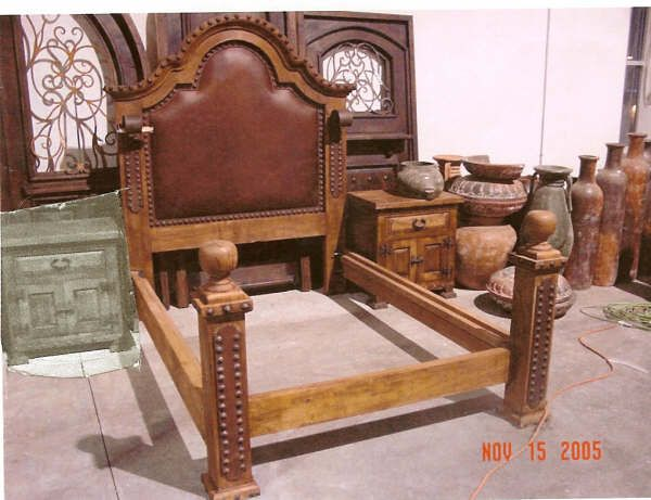 Mesquite Leather And Wrought Iron Bed Iron Bed Spanish Home Decor