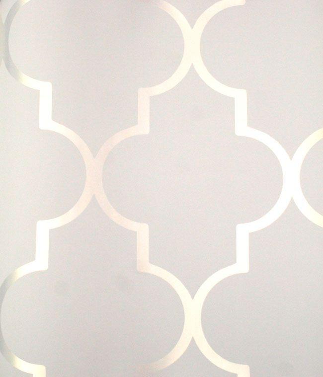 Silver Reflective Alahambra On White