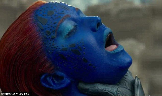 Jennifer Lawrence Gasps For Air While Being Choked By Apocalypse Jennifer Lawrence Mystique Lawrence