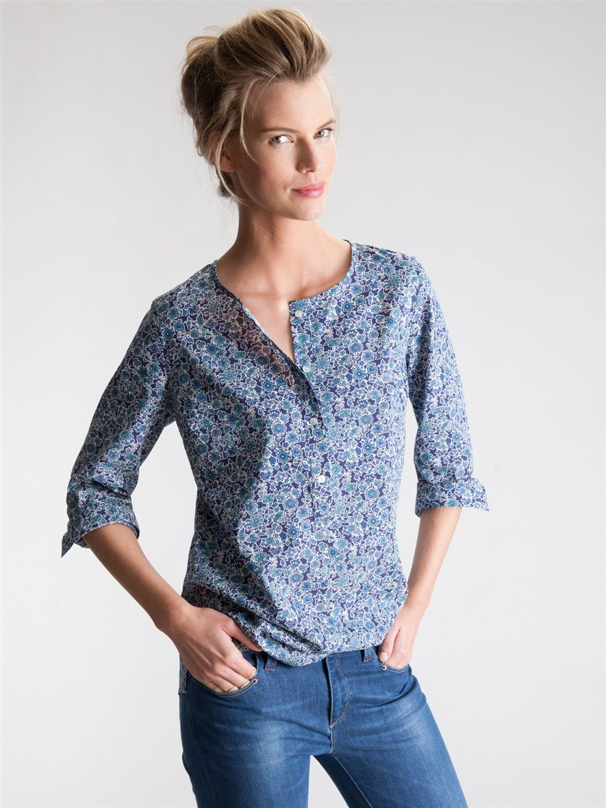 blouse femme imprim liberty la femme vetement et d co cyrillus mode pinterest liberty. Black Bedroom Furniture Sets. Home Design Ideas