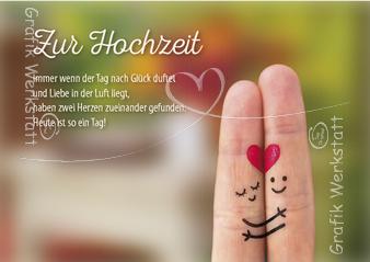 Zur Hochzeit Doppelkarte Grafik Werkstatt Bielefeld