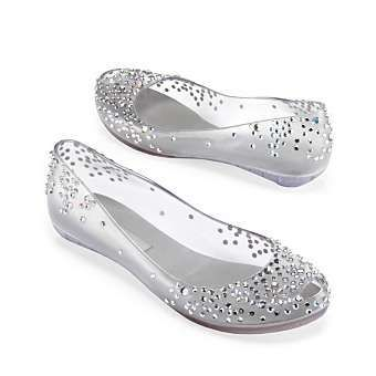 Find This Pin And More On Wedding Ideas By Memarie13 Melissa Clear With Sparkle Flat Shoes
