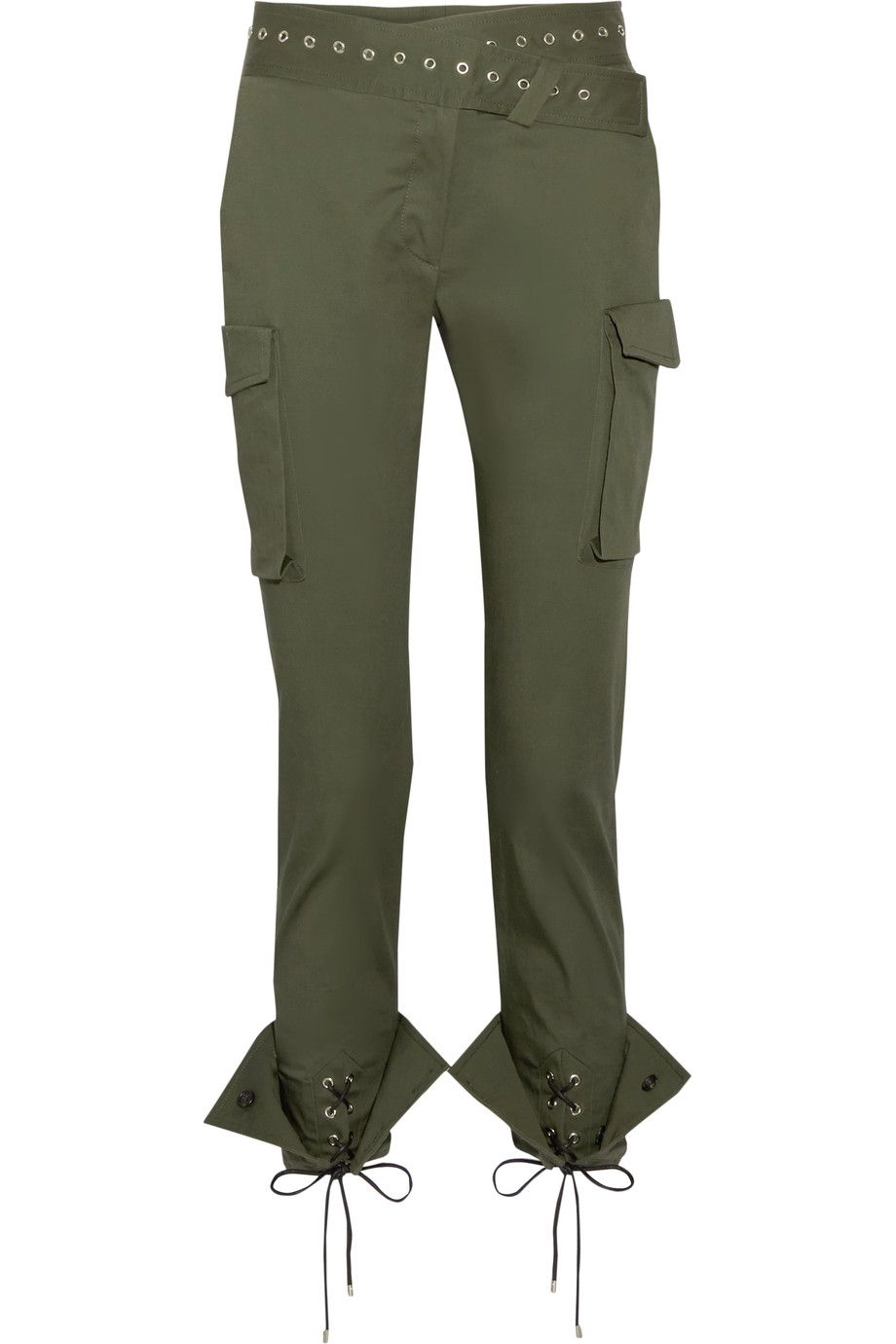 Skinny Embellished Cotton Twill Pants Net MonseEyelet A Blend f7Ybv6gy