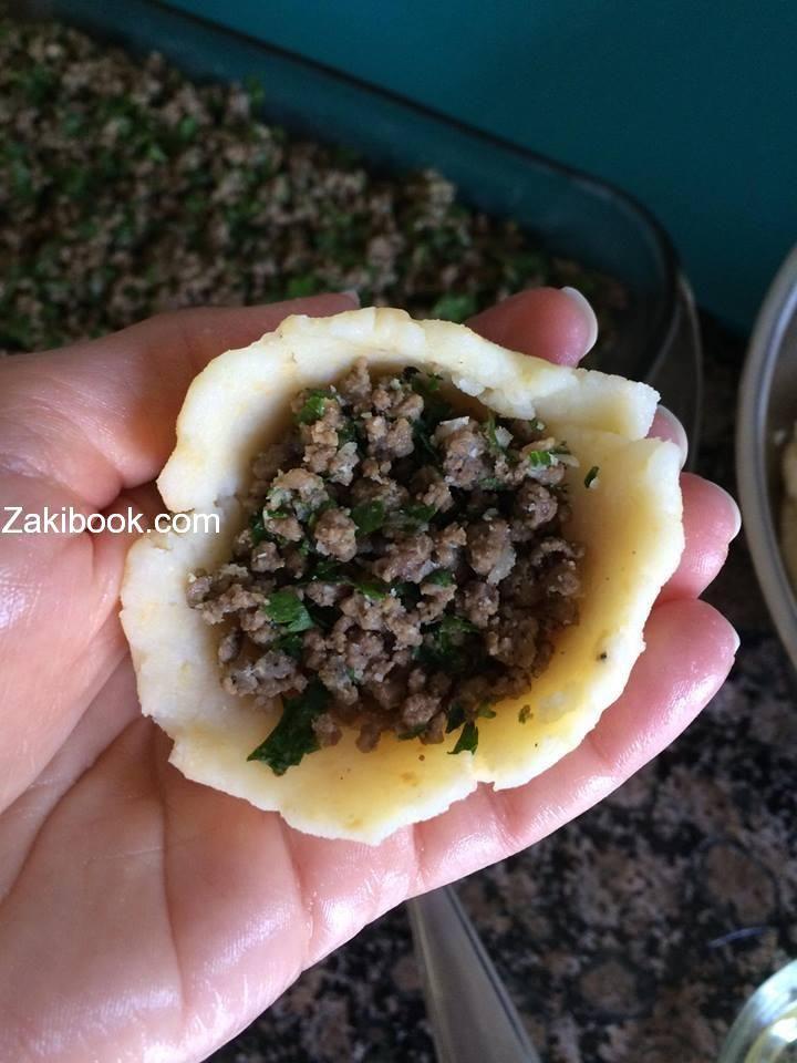طريقة عمل كبة البطاطا المقلية بالصور زاكي Food And Drink Syrian Food Food Recipies