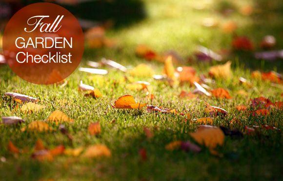 Fall Garden Checklist: 10 Things... | The Garden Glove