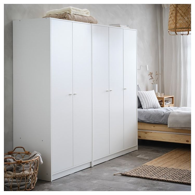 Kleppstad Wardrobe With 3 Doors White 46 1 8x69 1 4 Ikea Ikea Wardrobe Ikea White Wardrobe Ikea Room Divider