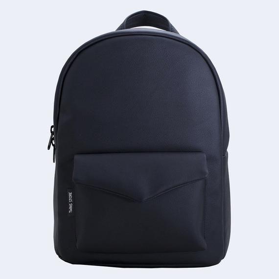 99e10d875225 Black backpack Vegan backpack Eco Leather black backpack laptop bag urban Backpack  Travel backpack C