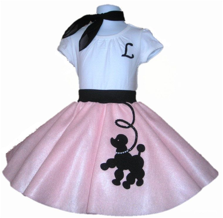 Norah Halloween New 3pc Toddler Size Prancing Poodle Skirt Outfit Your Choice Of And Color